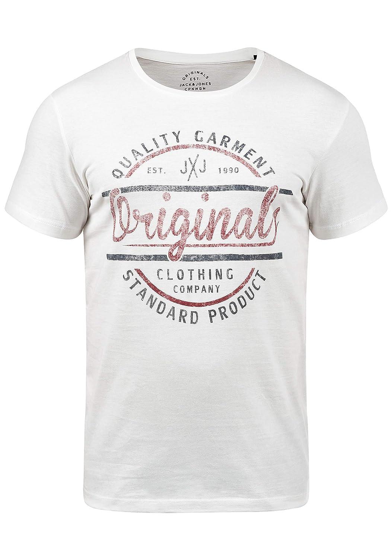 JACK & JONES Originals Joey Herren T-Shirt Kurzarm Shirt Mit Print Und Rundhalsausschnitt Aus 100% Baumwolle