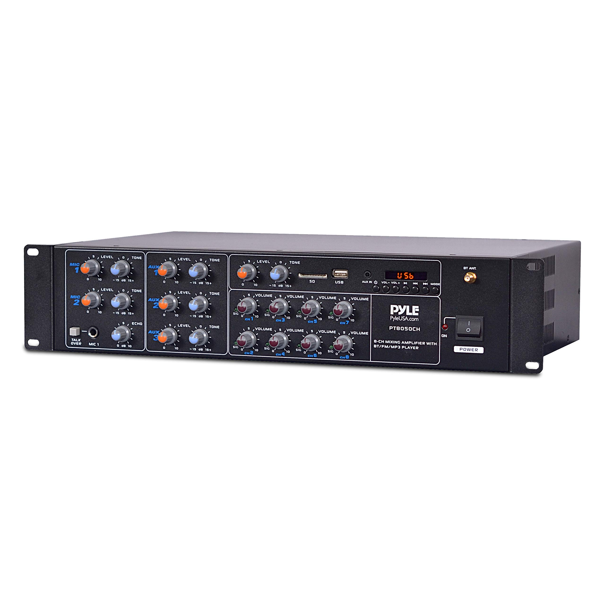 8 Outlet Power Sequencer Conditioner - 2200W Rack Mount Pro Audio Digital Power Supply Controller Regulator w/ Voltage Readout, Surge Protector, For Home Theater, Stage / Studio Use - Pyle PS1200 by Pyle (Image #3)