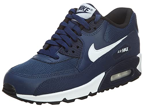 1cb81b3f6ac Nike - Air Max 90 Mesh GS - Color  Azul marino-Blanco - Size  37.5   Amazon.es  Zapatos y complementos