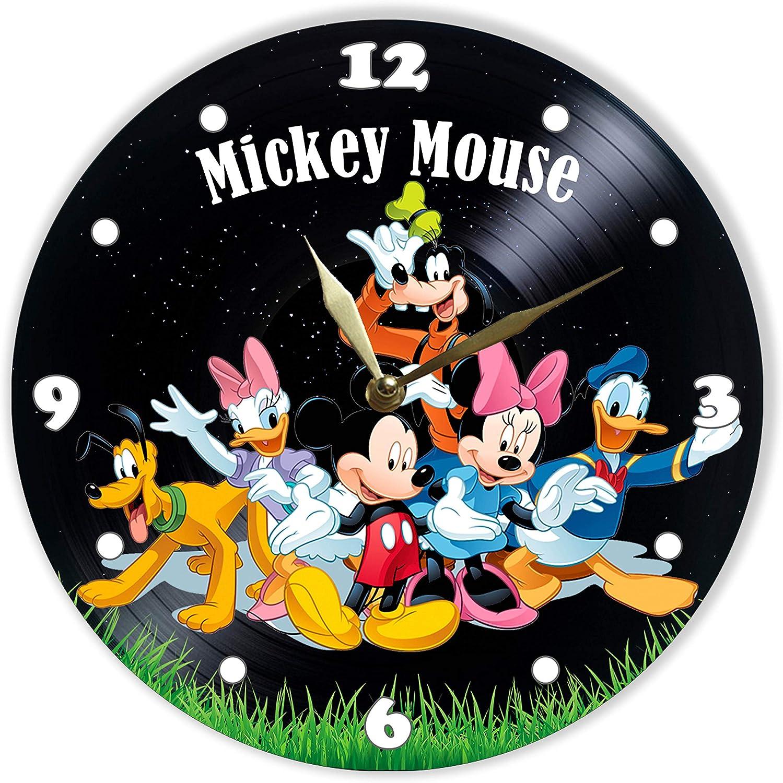 Mickey Mouse Vinyl Record Wall Clock Home Fan Art Decor 12/'/' 30 cm 6512