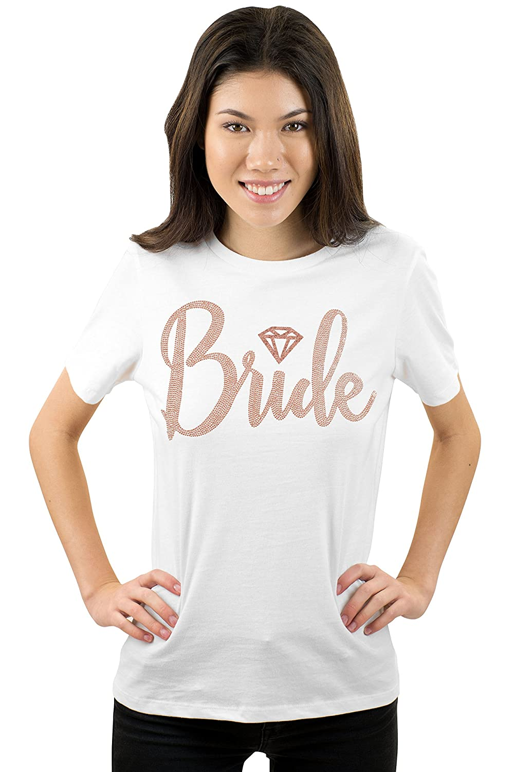 3ce8d84cb Rose Gold Bridal Party Shirts - Bridesmaid, Maid of Honor, I Do Crew, Team  Bride, Bachelorette Party Supplies at Amazon Women's Clothing store:
