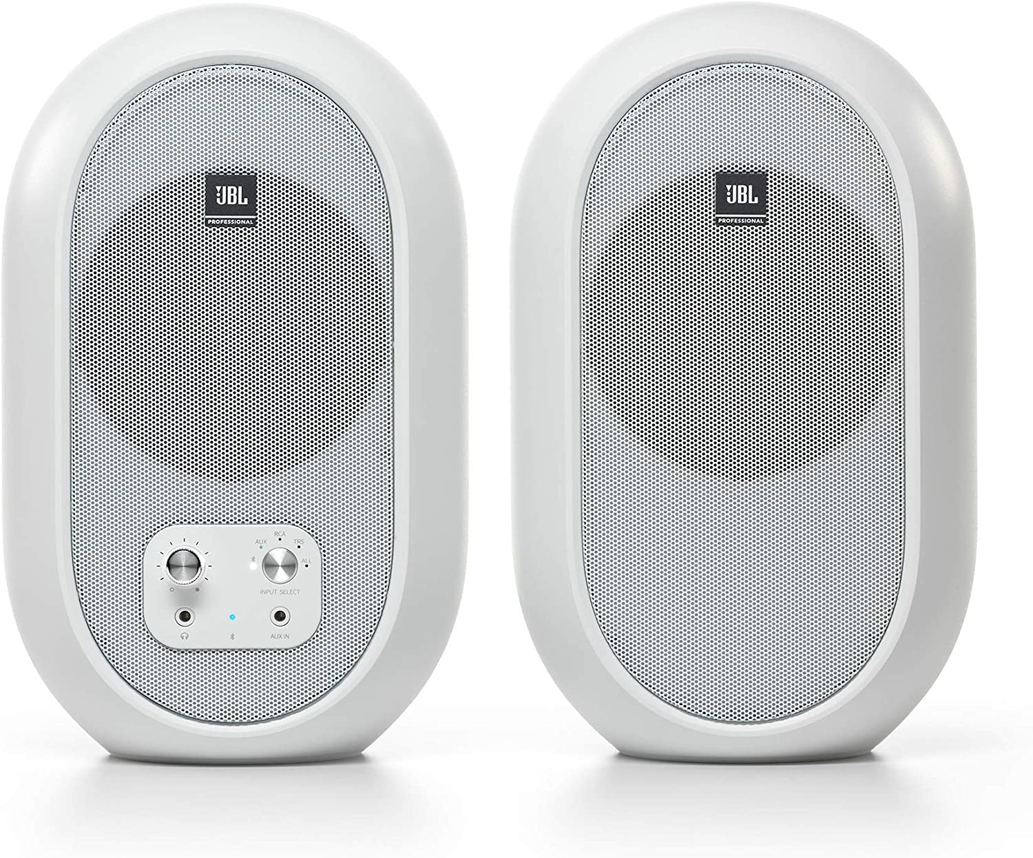 JBL Professional 1 Series 104-BT Compact Desktop Reference Monitors with Bluetooth, white, sold as pair, (JBL104-BT-WH)