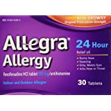 Allegra Allergy 24 Hour , 30 CT (Pack of 1)
