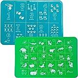 Brinware Placemat Set - ABC & 123 - Blue/Green