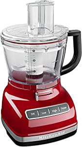 KitchenAid KFP1466ER 14-Cup Food Processor with Exact Slice System and Dicing Kit - Empire Red (Renewed)