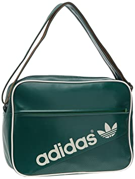 adidas Airliner Perforated Shoulder Bag - Forest Craft Canvas Real Green White  Vapour d9344470fe905