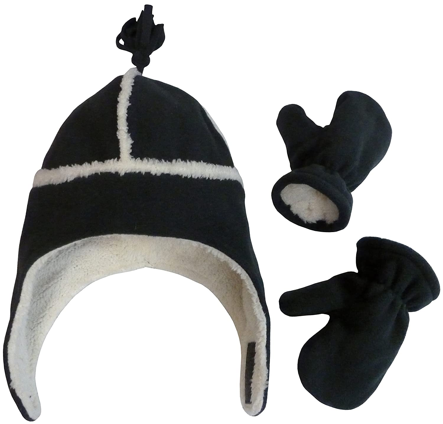 6c97757a7b8 Amazon.com  N Ice Caps Little Kids and Baby Reversed Sherpa Fleece Hat  Mitten Winter Set  Clothing