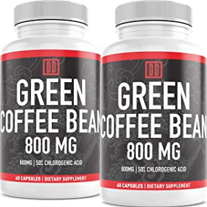 Green Coffee Bean Extract - 60 Caps - Natural, Pure, and Gluten Free - Double Dragon Organics … (120)