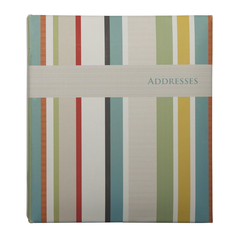 Corsica Stripe C.R Gibson Refillable Address Book A1-14104