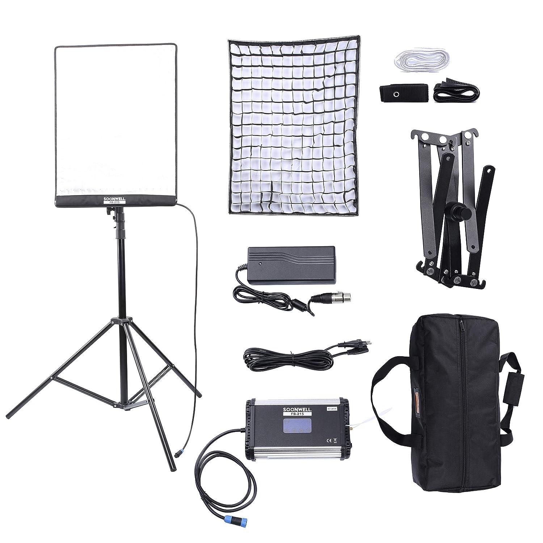 SOONWELL カメラライト 撮影用 照明 100W 3000-5600k CRI96+ 調光 ビデオ スタジ オ撮影、YouTube、商品撮影、ビデオ撮影に適用(FB-215) FB-215  B07HH2S7PK