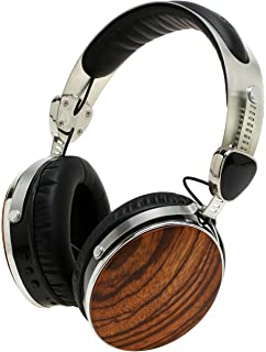 Symphonized Wraith 2.0 Bluetooth Genuine Wood Wireless Headphones with  3.5mm Cable Included for Wired Use 929b1fb617
