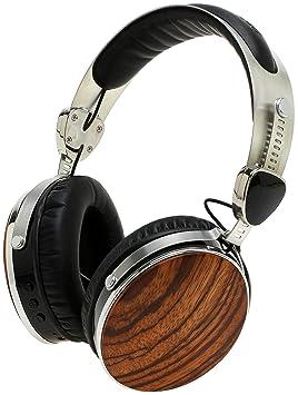 Symphonized Wraith 2.0 Bluetooth | Auriculares inalámbricos de madera auténtica sobre la oreja con 3,5mm de cable incluido para uso con cable (Madera de ...