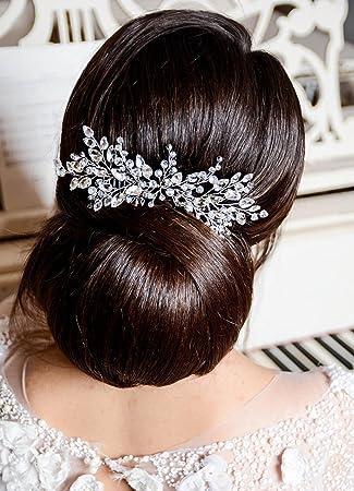 Kercisbeauty Hochzeit Braut Bridesmaids Blumen Mit Kristall Strass