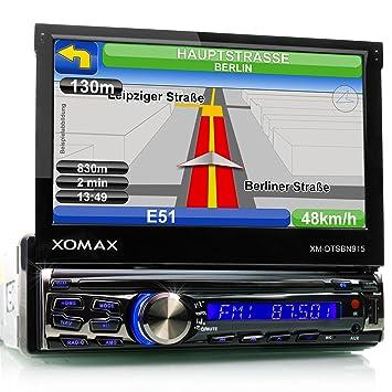 XOMAX XM-DTSBN915 Radio de coche / Autoradio 1DIN con Navegación GPS con Mapas de