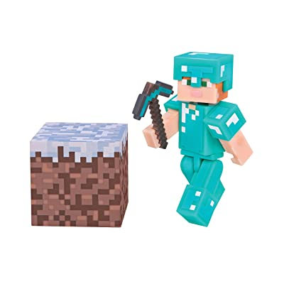 Minecraft Alex with Diamond Armor Figuras coleccionables Adultos y niños - FiFiguras de acción y colleccionables (Figuras coleccionables,, Videojuego, Adultos y niños,, Alex): Juguetes y juegos