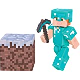 "Minecraft 3"" Action Figure: Alex with Diamond Armor Pack"