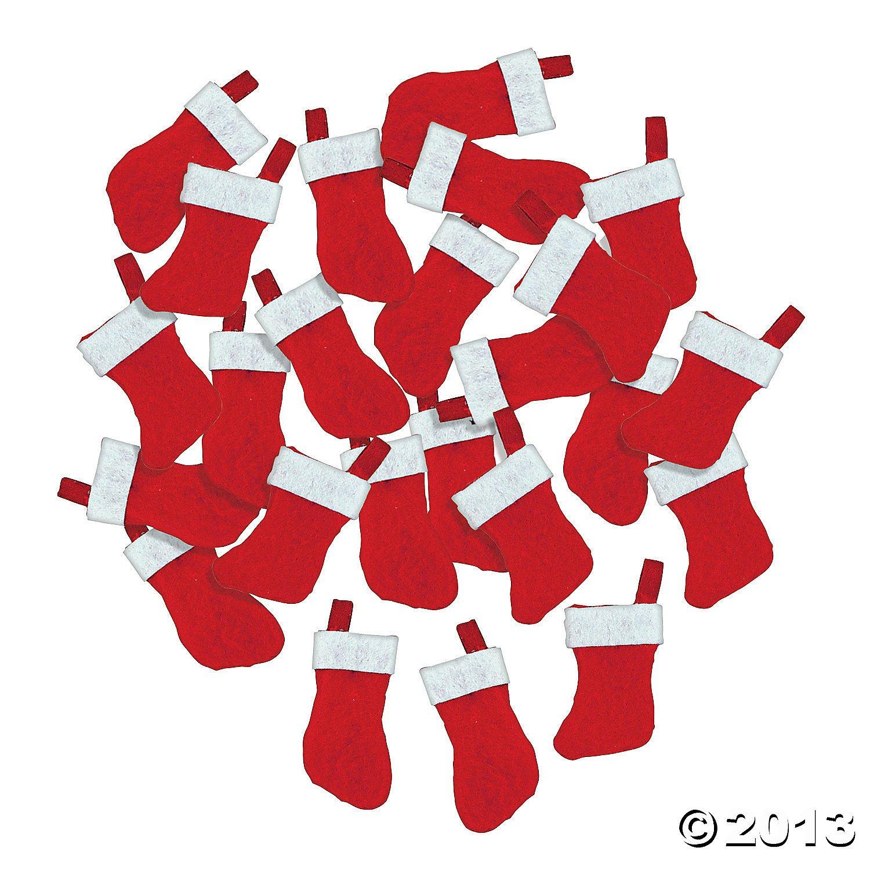 amazon com mini christmas stockings 24 pcs arts crafts u0026 sewing