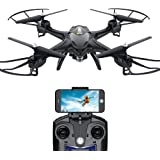 Holy Stone Drone with Camera, FPV Drone with 720P HD WIFI Live Video Camera, RC Quadcopter Drone for Beginners Kids, Headless Mode, Altitude Hold, APP Control, One Key Return, RTF – Black