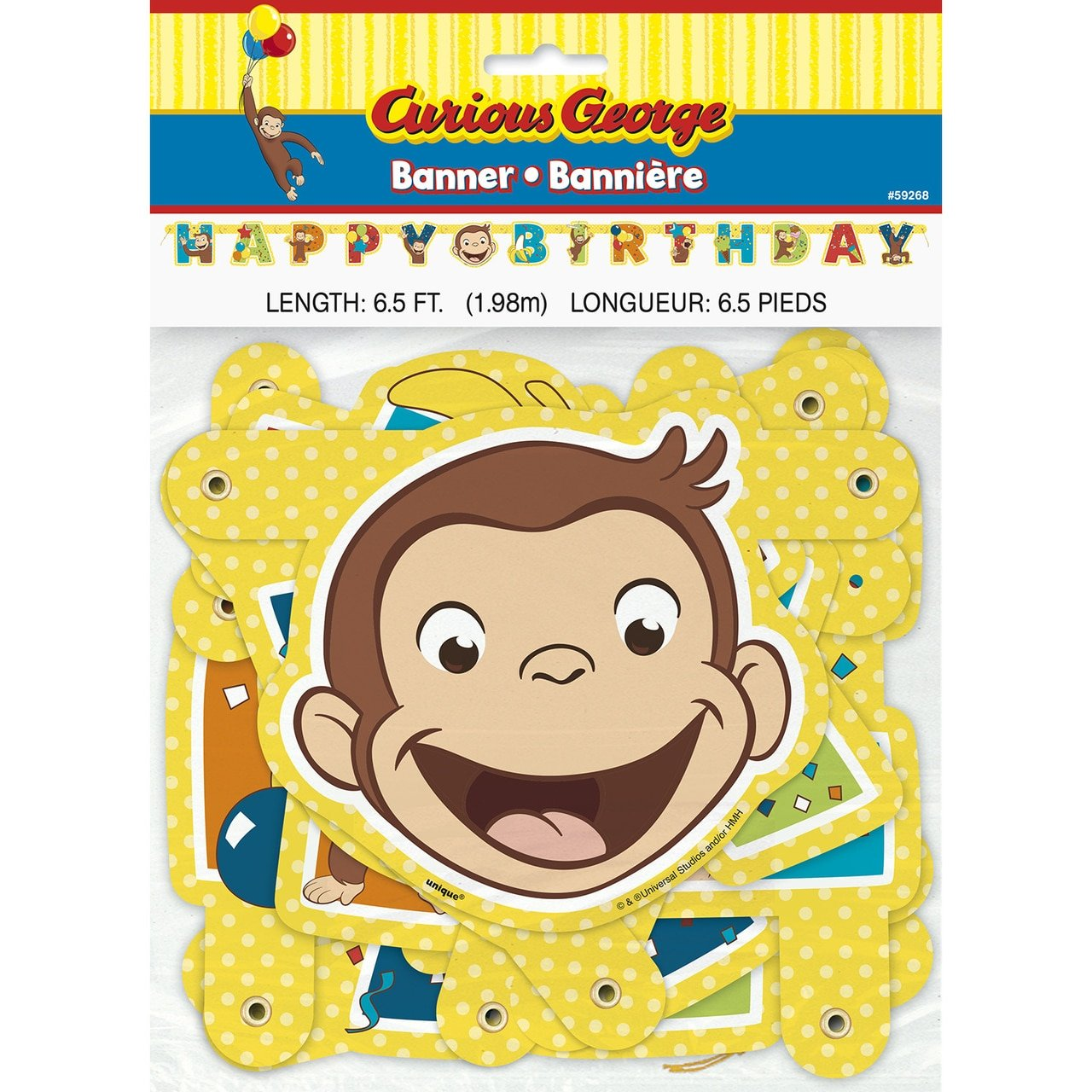 Curious George Large Jointed Banner Birthday Party Supplies
