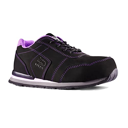 01cb7ea3 Vixen VX850 Jasmine S3 SRC Ladies Black Purple Composite Toe Cap Safety  Trainers (UK 3
