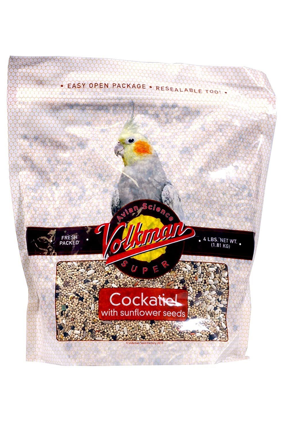 Volkman Cockatiel with Sunflower Seed Mix 4lb