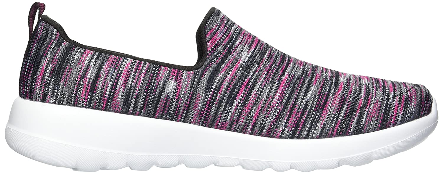 Skechers Women's Go Walk Joy-15615 Wide Sneaker B0752X8KLM 7.5 W US|Black/Pink