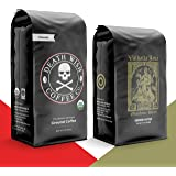 DEATH WISH Coffee - The World's Strongest [1 lb] and VALHALLA JAVA Odinforce Blend [12 oz] Ground Coffee in a Bundle/Pack/Gif
