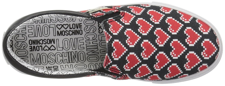 Love Moschino Slip on Frau Herzen Textil Textil Textil Schwarz Rot JA15233G15IF0000N - 308304