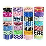 UOOOM Multi-pattern Decorative Washi Tape Masking Tape Adhesive Scrapbooking DIY Craft Gift (10 x Patterns)
