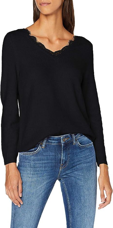 Only Onlhavana L//S V-Neck Pullover CC Knt Felpa Donna