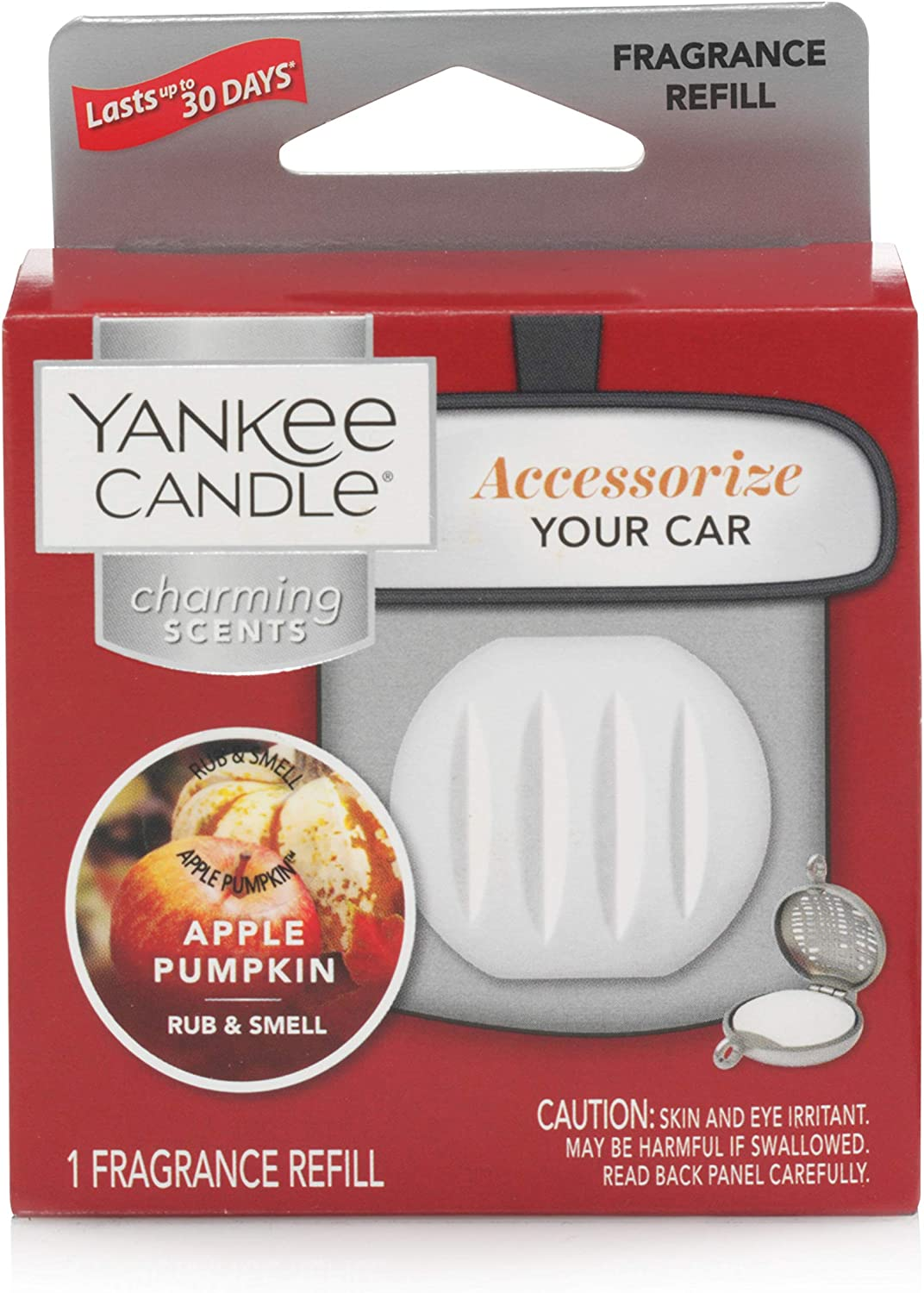 Yankee Candle Charming Scents Car Air Freshener Refill, Kits, Apple Pumpkin