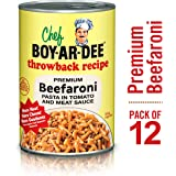 Chef Boyardee Throwback Recipe Beefaroni Pasta in Tomato and Meat Sauce, 15 Oz, Pack of 12