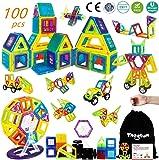Theefun® Bloques de Construcción Magnéticos Set Arco Iris con 100 Piezas Inspira Set Estándar de Construcción - Juguetes…