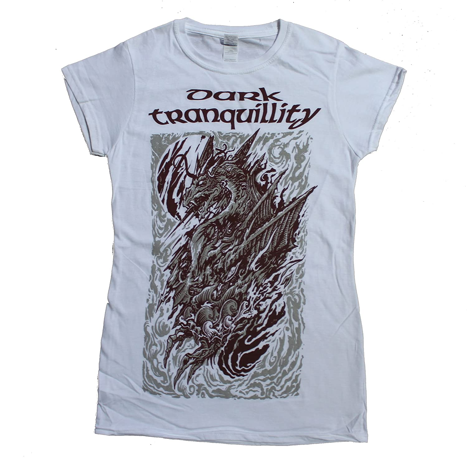 Dark Tranquillity Girlie Frauen T-Shirt, Dragon