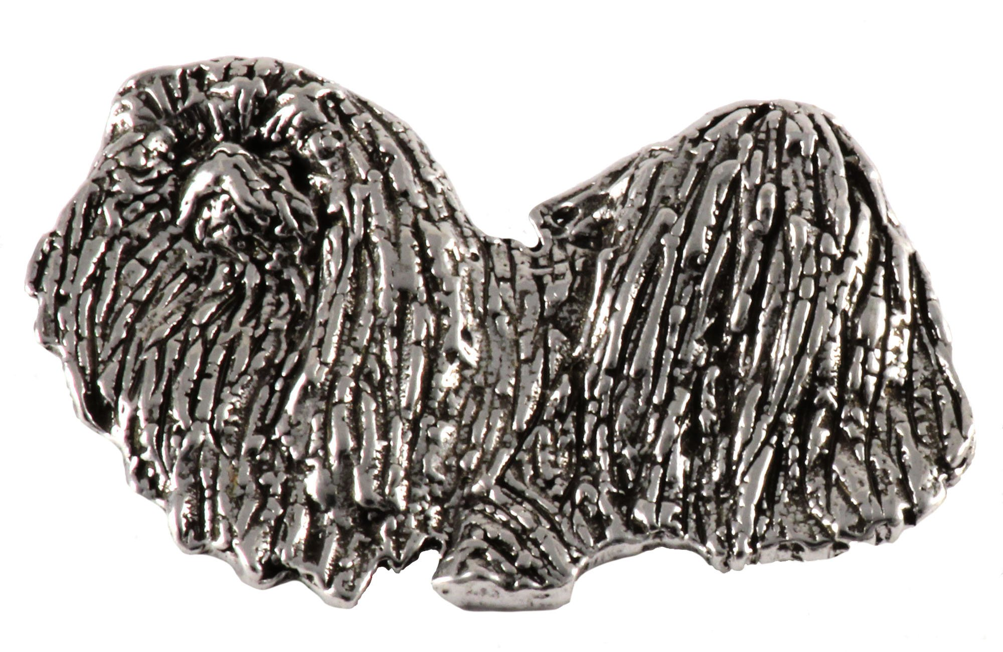 Pekingese-Dog-Pewter-Lapel-Pin-Brooch-Jewelry-D436F