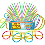 PartySticks Glow Sticks Party Supplies 100pk - 8 Inch Bulk Light Up Sticks Party Favors, Glow in the Dark Party Decorations w