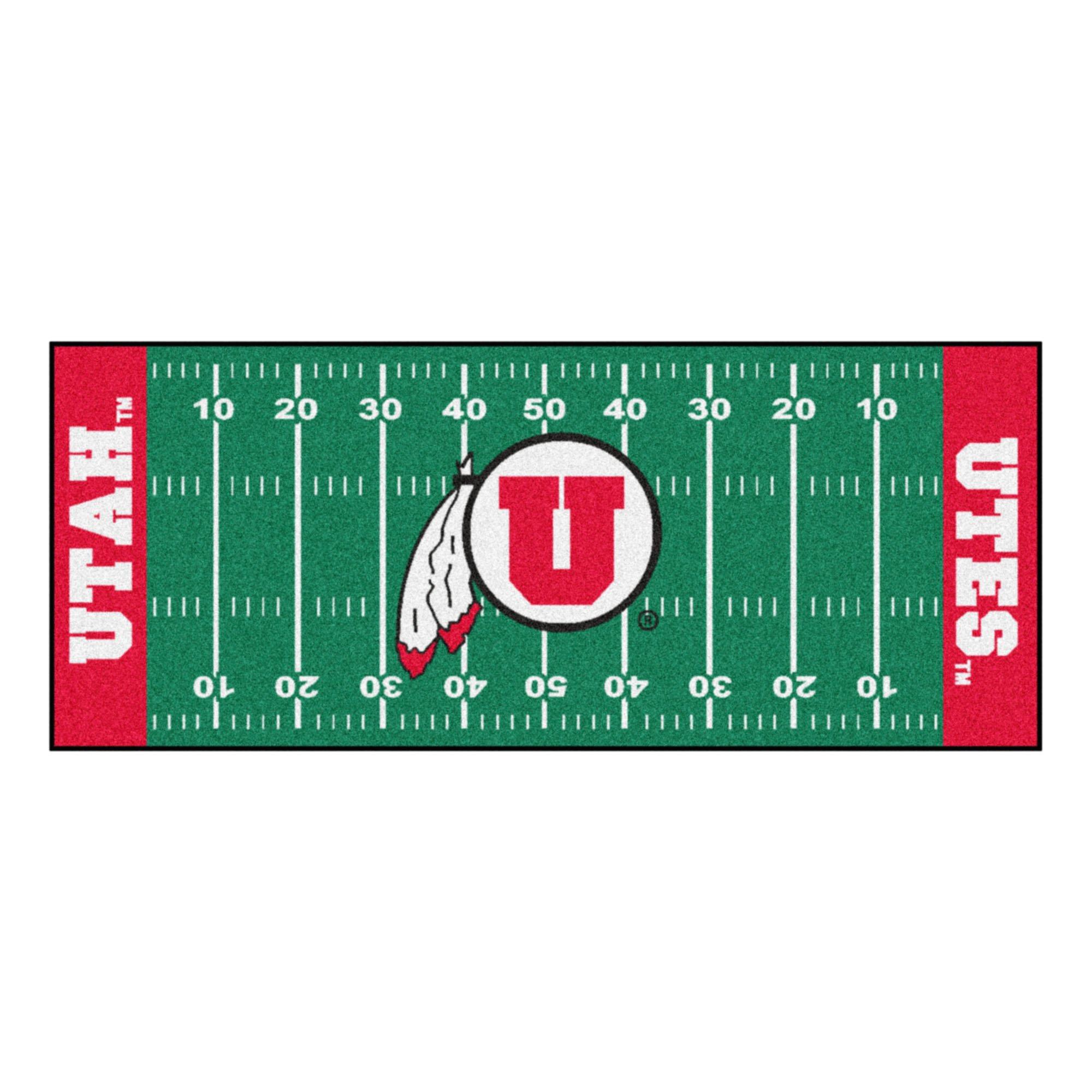 NCAA University of Utah Utes Football Field Runner Mat Area Rug