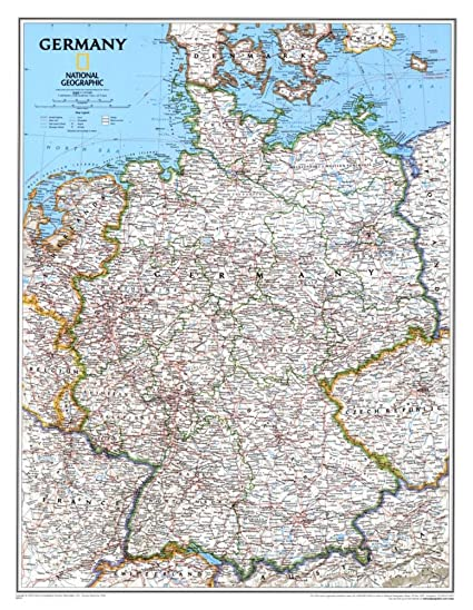 Map Of Germany To Print.Amazon Com Map Germany Education Poster Print 24x31 Posters Prints