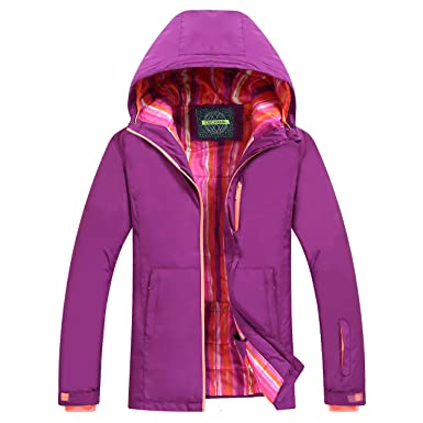 Amazon.com: chusanhi Windproof Snow Ski Jacket For Women Insulated ...