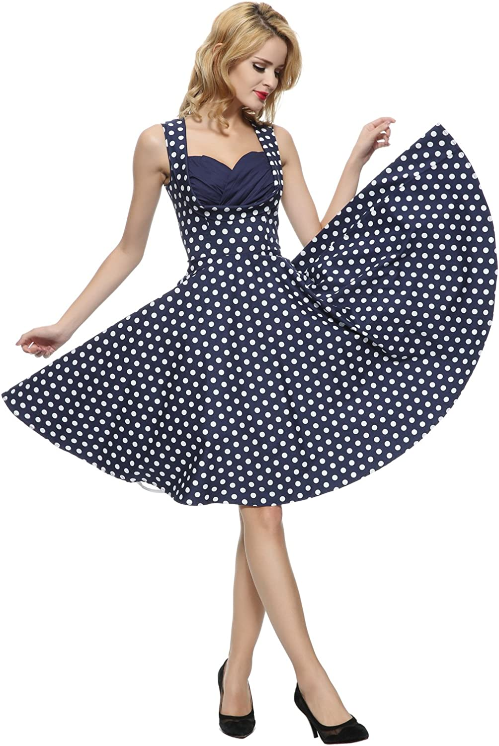 Maggie Tang Women's 1950s 60s Floral Spring Vintage Garden Party Picnic Dress