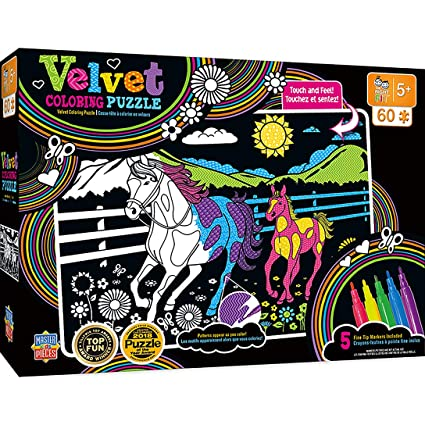 MasterPieces Velvet Coloring of Horse and Pony - 60 PieceKdis Puzzle