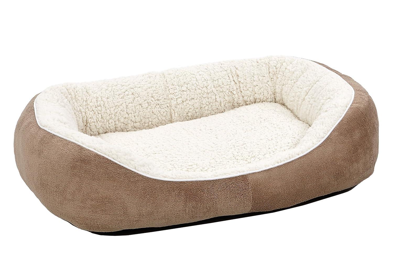 Amazon.com: Midwest Cuddle cama, M, Marrón topo: Mascotas