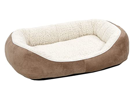 midwest homes for pets cuddle bed taupe medium