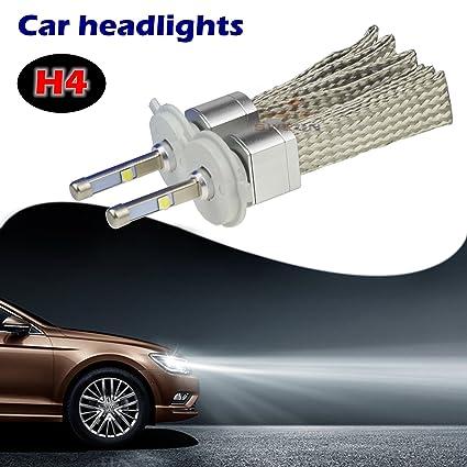 sweon 2pcs estilo de coches 80 W H4 6000 K coche LED Faro Kit de ...