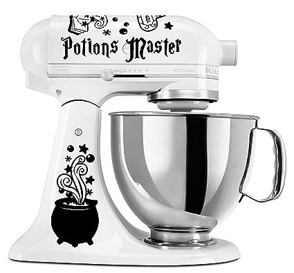 Potions Master Mixer Decal Set For Kitchenaid Mixers Black