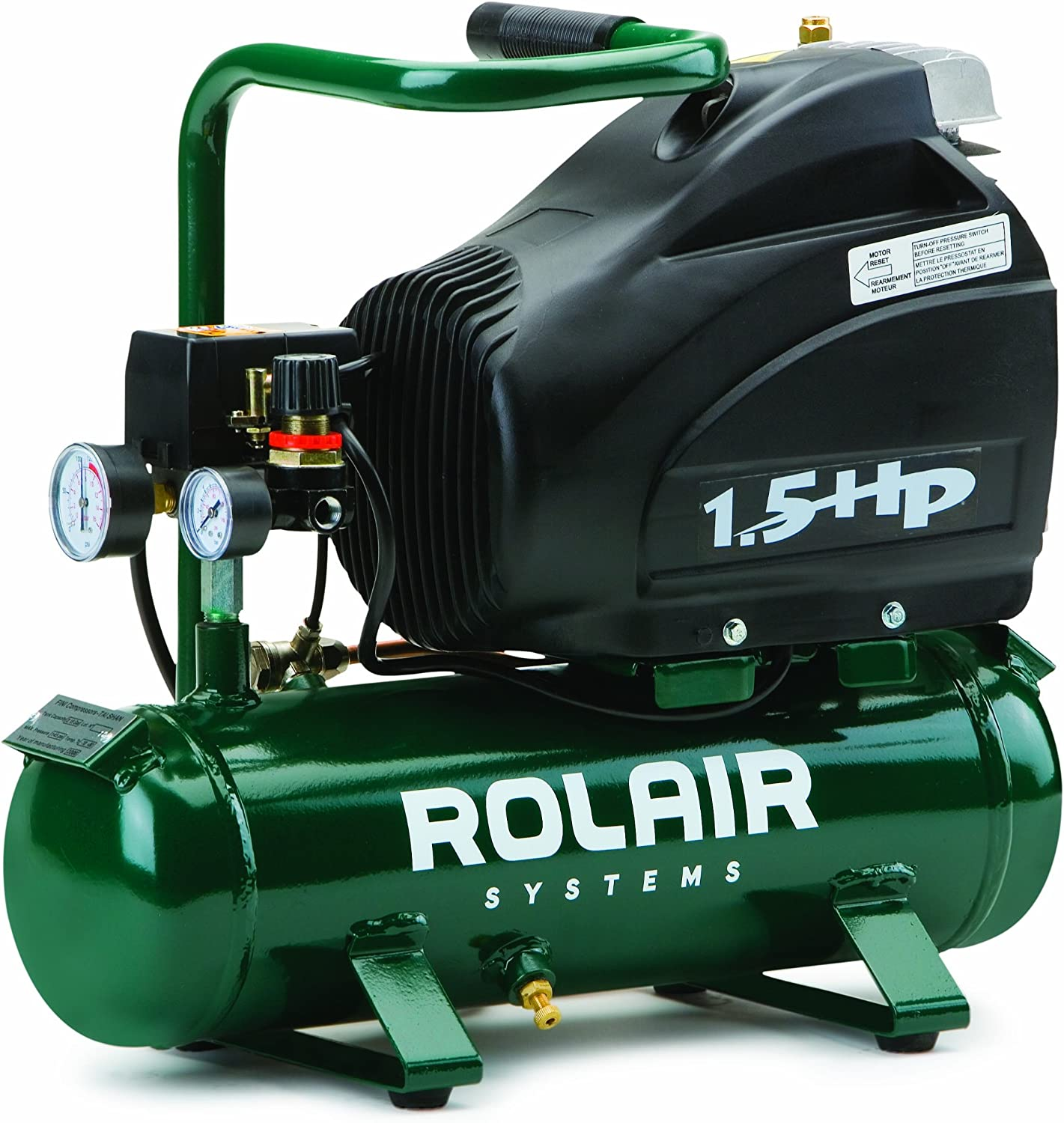 Rolair FC1500HS3 1.5 HP Compressor with Overload Protection and Manual Reset