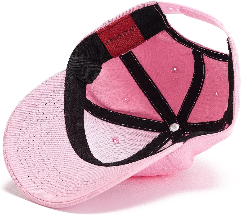 -Unisex Pink HAUS OF JR Skylar Script Snapback Hat