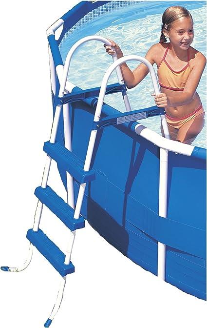Intex 12-58973 - Escalera sin Plataforma para Piscinas de 107 cm de Altura: Amazon.es: Jardín