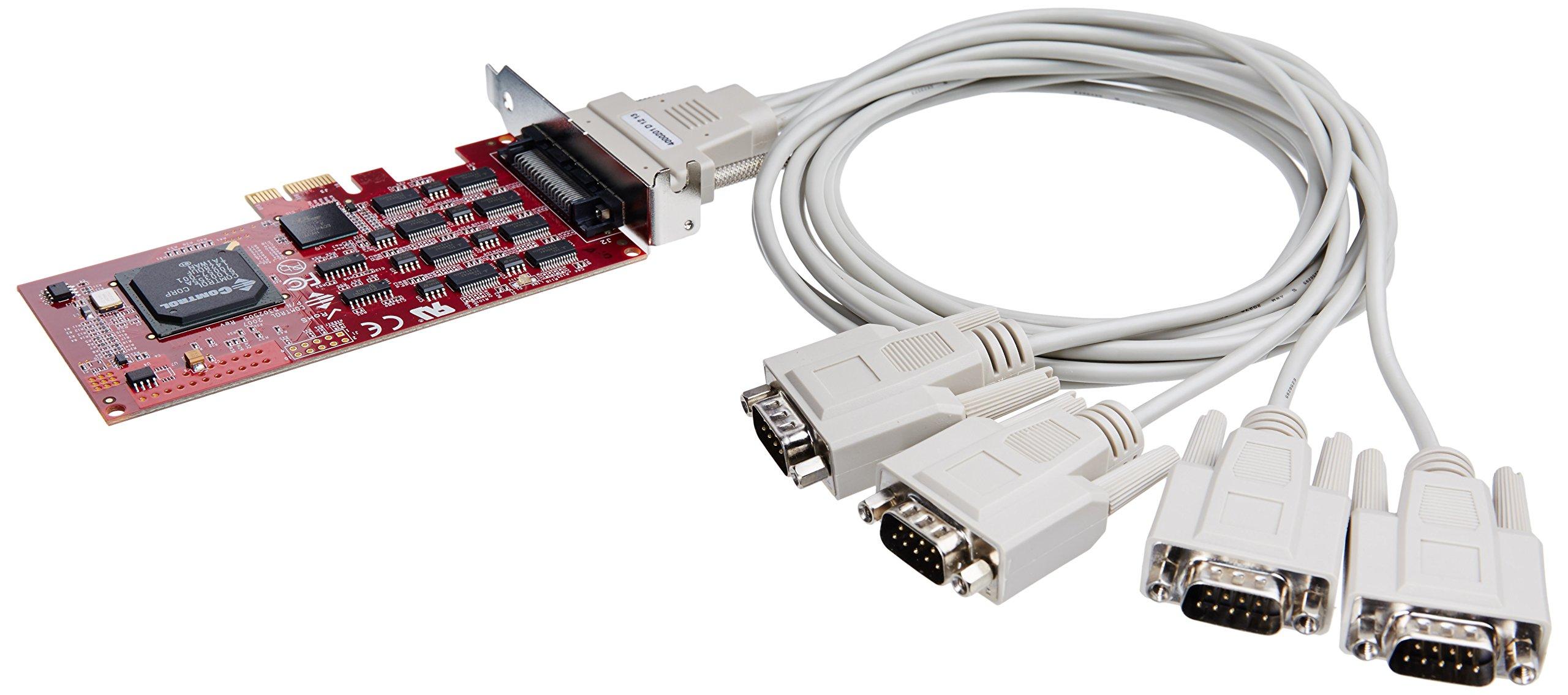 Comtrol Rocketport Pcie 4PORT DB9M RS232/422/485 Express Quad by Comtrol