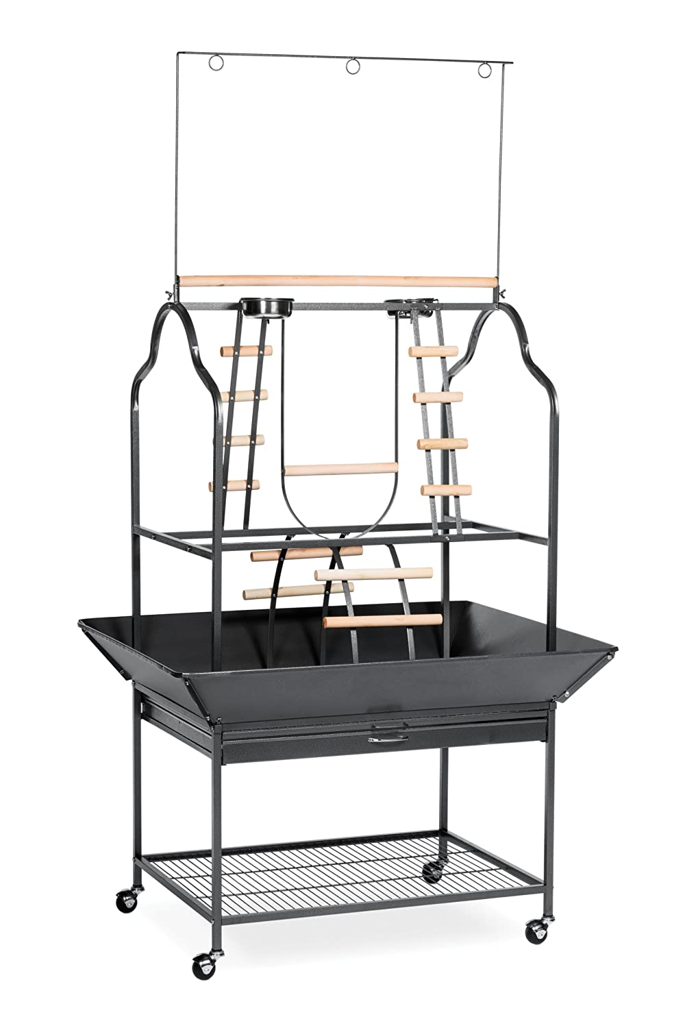 Prevue Hendryx 3180 Pet Products Parrot Playstand, Black Hammertone Prevue Pet Products Inc. 3180BLK
